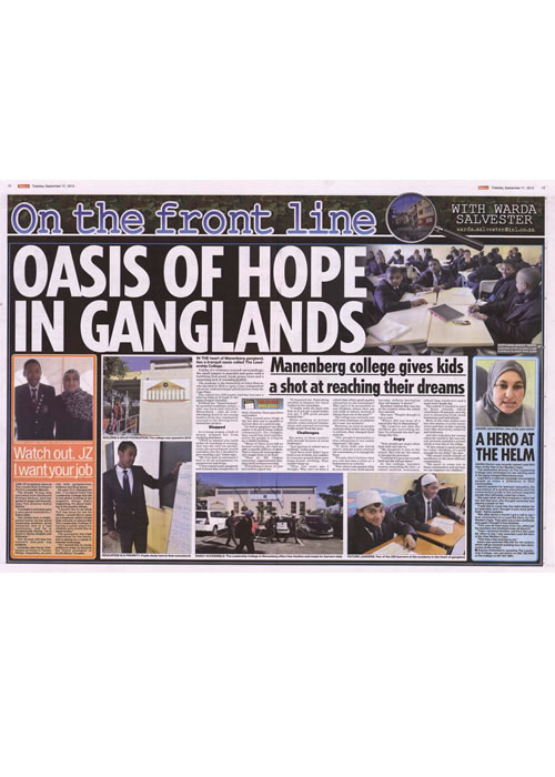 On the front line, oasis of hope in ganglands