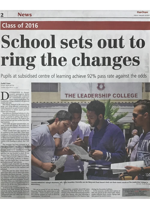 School sets out to ring the changes